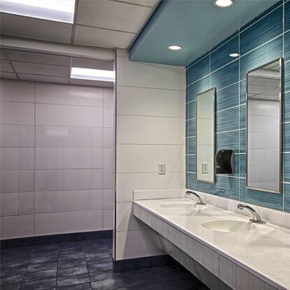 Paramus High School Girls Locker Room Bathrooms ENV Design